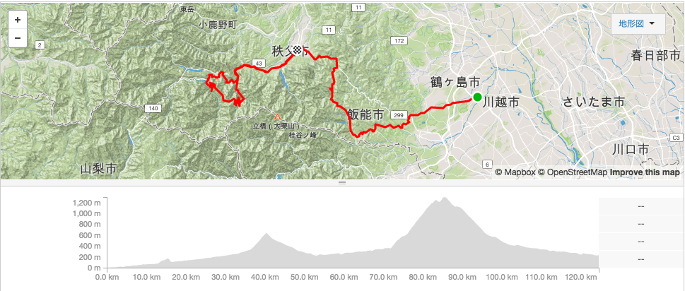 長くてきつい三峯神社への道